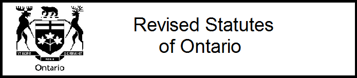 Ontario: Revised Statutes