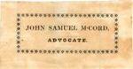 McCord, John Samuel (1801-1865)