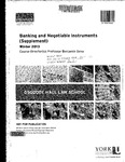 Banking and Negotiable Instruments (Supplement): 2012-13