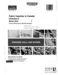 Public Inquiries in Canada (Volume 1): 2012-13 by Ronda Bessner