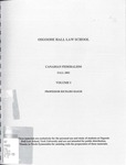 Canadian Federalism: Cases and Materials: 2002