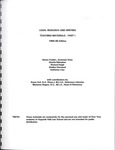 Legal Research and Writing: Teaching Materials: 1995-96