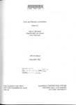 Cases and Materials on Restitution (Volume 2): 1994-95