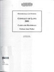 Conflict of Laws: Cases and Materials: 2000-01