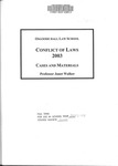 Conflict of Laws: Cases and Materials: 2003-04