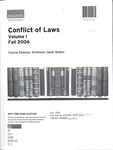 Conflict of Laws: Cases and Materials: 2006-07
