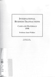 International Business Transactions: Cases and Materials: 1997-98