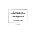 International Business Transactions: Cases and Materials: 1998-99