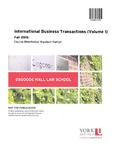 International Business Transactions (Volume I)