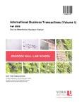 International Business Transactions (Volume I): 2015-16 by Murdoch Martyn