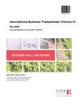 International Business Transactions (Volume II): 2015-16 by Murdoch Martyn