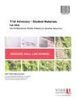 Trial Advocacy - Student Materials: 2015-16