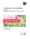 Trial Advocacy - Final Trial Materials: 2016-17