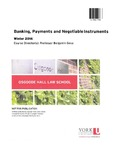 Banking, Payments and Negotiable Instruments: 2015-16 by Benjamin Geva