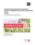 Commercial and Consumer Transactions Volume II: Negotiable Instruments and Banking 3rd ed.