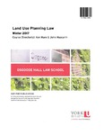 Land Use Planning Law: 2016-17 by Ken Hare and John Mascarin