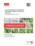 Land Development & Commercial Real Estate Problems (Volume II): 2017-18 by Morton G. Gross