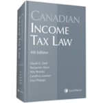 Canadian Income Tax Law, 4th Edition by David G. Duff, Benjamin Alarie, Kim Brooks, Geoffrey Loomer, and Lisa Philipps