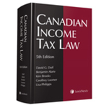 Canadian Income Tax Law, 5th Edition