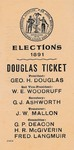 1901 - Vote the Douglas Ticket!
