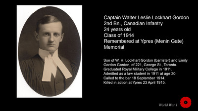 Captain Walter Leslie Lockhart Gordon