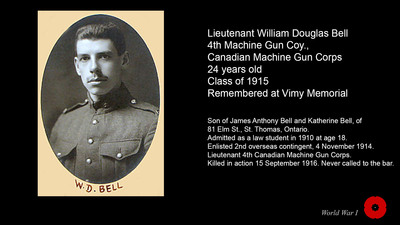 Lieutenant William Douglas Bell