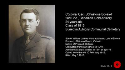 Corporal Cecil Johnstone Bovaird