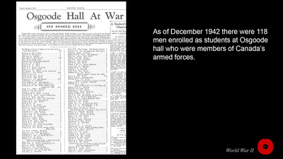 Osgoode Hall at War