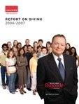 Report on Giving: 2006 - 2007 by Osgoode Hall Law School of York University